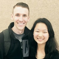 Keynote speaker, Scott Backovich, with ACLC Leadership Conference organizer, Winnie Zhou. (Ryan Kelley-Cahill)