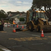 Otis Drive was closed this evening between High Street and Mound. (Action Alameda News)
