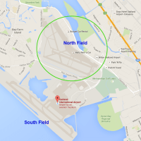 Alameda residents should expect additional air traffic on Oakland Airport's North Field in the run-up to Super Bowl 50. (Google Maps)