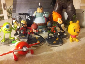 Disney Infinity figures with some of their cousins.