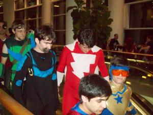 RICC 2013 Cosplay - Green Arrow, Blue Beetle, Shazam, Booster Gold