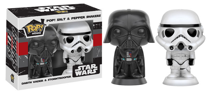 Action figure insider coming soon from funko star wars - Darth vader and stormtrooper salt and pepper shakers ...