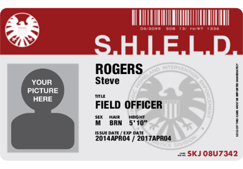 Cafepress SHIELD ID Badge blank