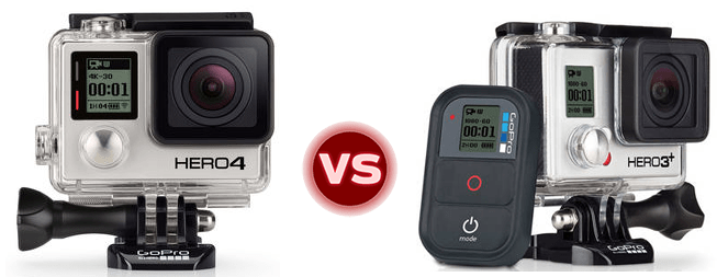 The difference between GoPro HERO 4 and 3+