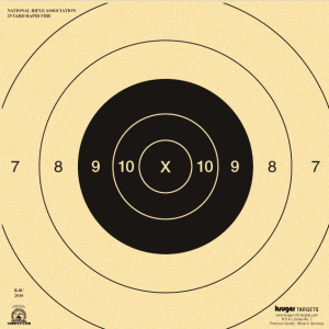 25 Yard Rapid or Timed Fire Pistol Target