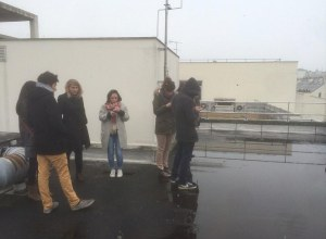 Photo of evacuees stranded on the office roof