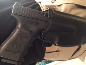 Student's gun in the holster