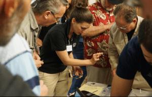 Lauren teaching handcuff picking and shimming
