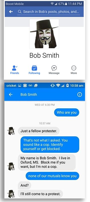 Image result for COPS BREAKING FACEBOOK RULES, CREATING FAKE ACCOUNTS TO WATCH YOU—HERE'S HOW TO SPOT THEM