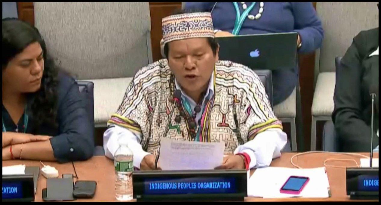 Julio Cusurichi en Foro Permanente para Cuestiones Indígenas de la ONU