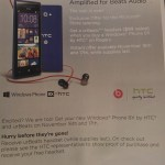Promotional material from an HTC rep