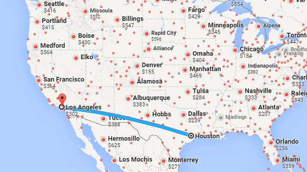 Map to LA