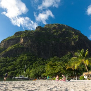 St Lucia Beach - Between the  Pitons