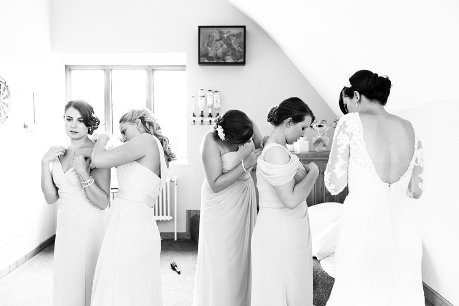 bridesmaids wedding prep