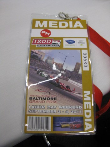 Auto Racing Baltimore on Baltimore Grand Prix Media Pass
