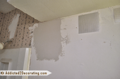 Bathroom Makeover Day 9 - How To Remove Wallpaper (Without Actually Removing Wallpaper ...