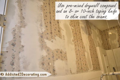 Bathroom Makeover Day 9 – How To Remove Wallpaper (Without Actually Removing Wallpaper)
