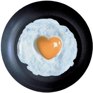 Huevo frito con la proteina asimilable