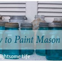 Faux Blue Mason Jars-Updated