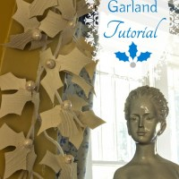 Handmade Christmas Holly Garland