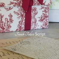 French Toile and Script