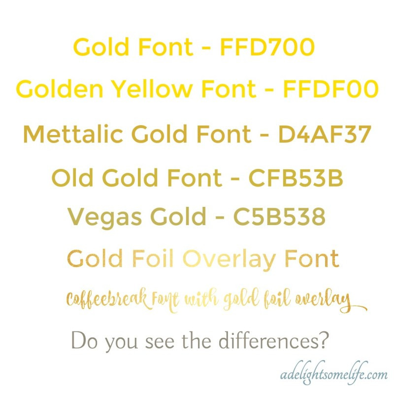 Large Of Metallic Gold Color Code