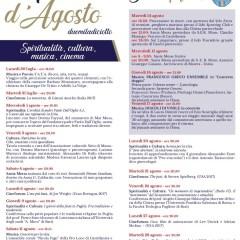 Incontri d'agosto a Castellaneta Marina: spiritualità, cultura, musica, cinema.