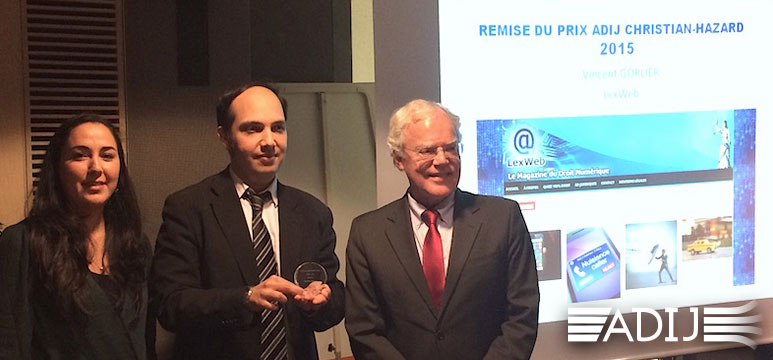 Prix ADIJ Christian Hasard 2015 Vincent Gorlier LexWeb