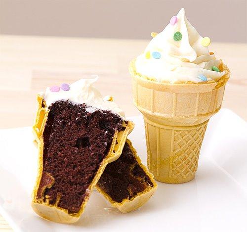 Dondurma Külahında Cupcake Tarifi
