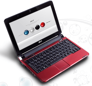 Acer Aspire One Netbook - 10 inch Red