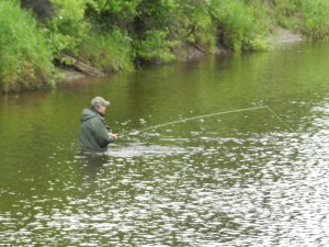 Fly Fishing on the Ausable River - photo by John Warren