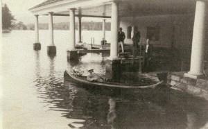 Bixby  in boat