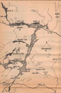 Proposed Gooley Dam Reservoir c 1968