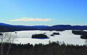 View of Blue Mountain Lake From the Adirondack Museum