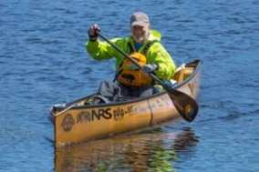 John Connelly paddling the Northern Forest Canoe Trail