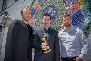 Editor Michael C. Hansen, producer, writer and director Paul Larson, and director of photography Daniel McCullum photo by Jean Ulysse