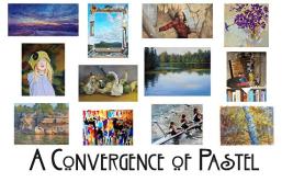 A Convergence of Pastel - postcard George Van Hook