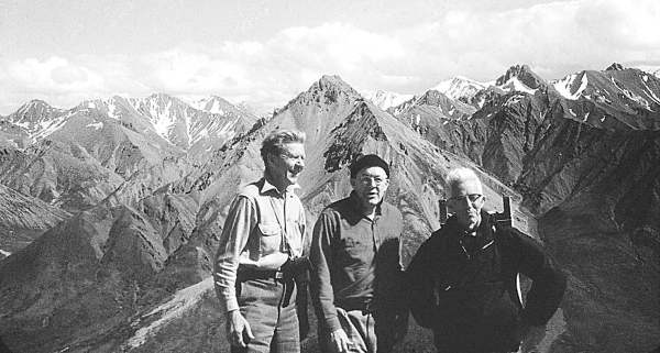 Olaus Murie, Howard Zahniser and Adolph Murie on Cathedral Mountain in Alaska.