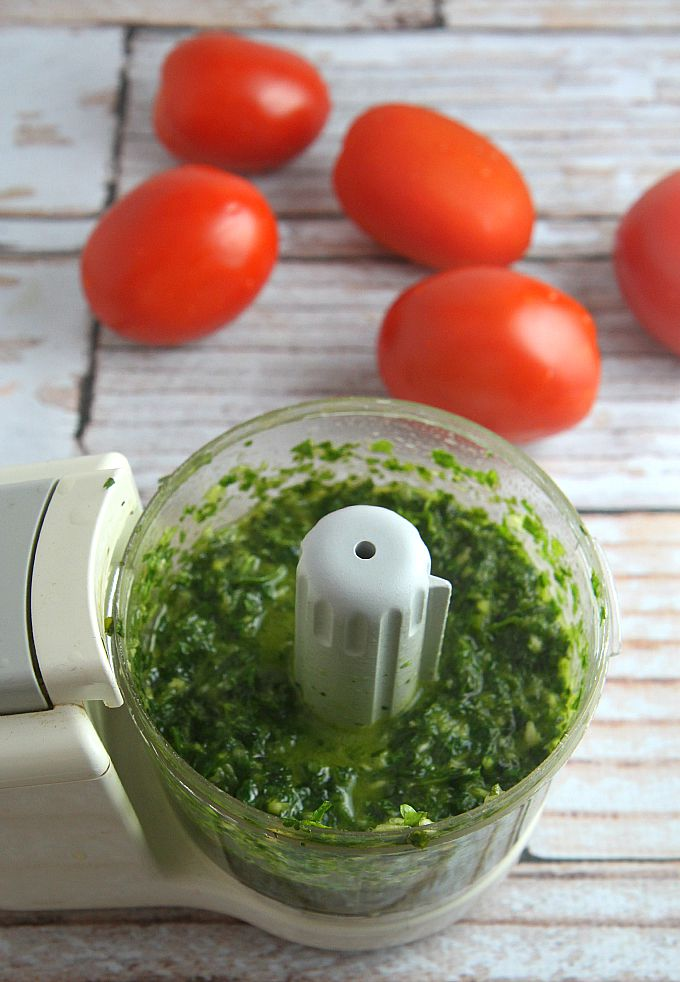 Cilantro Paste for Slow Roasted Tomatoes, Mexican style