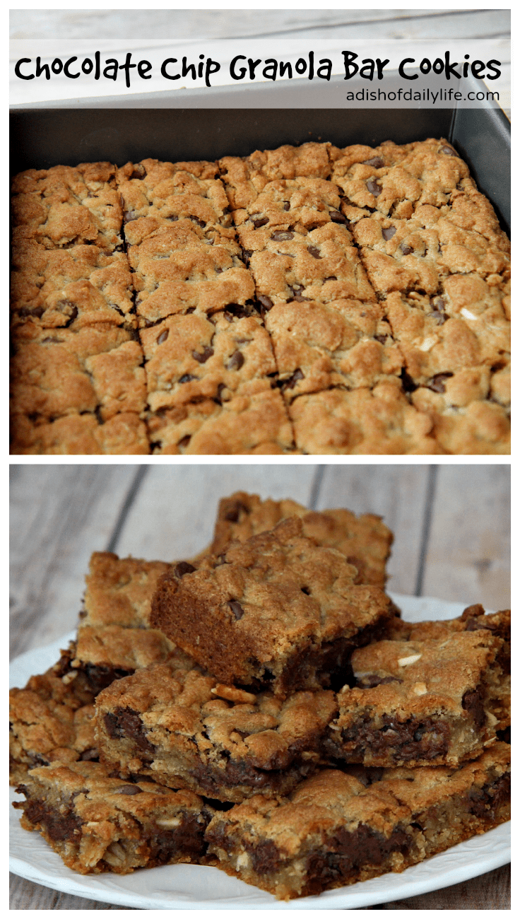 Delicious Chocolate Chip Granola Bar Cookies...easy to make and so good!