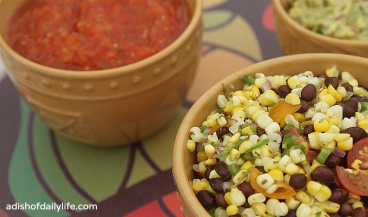 Corn and Black Bean Salsa Appetizer