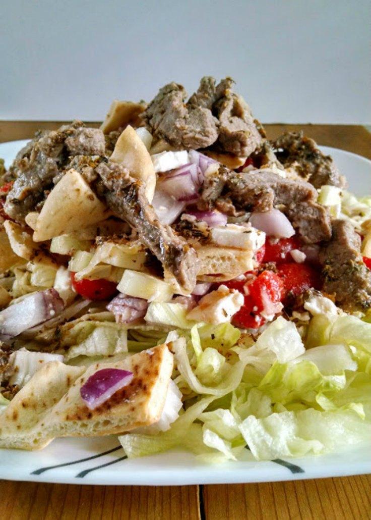 Pita Panzanella Salad with Steak