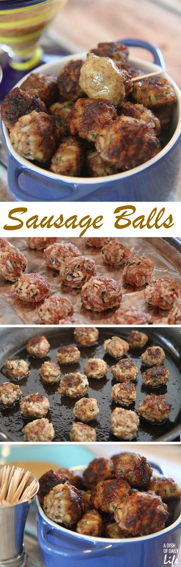 Sausage Balls...this old family favorite is a fun appetizer recipe for tailgate season!