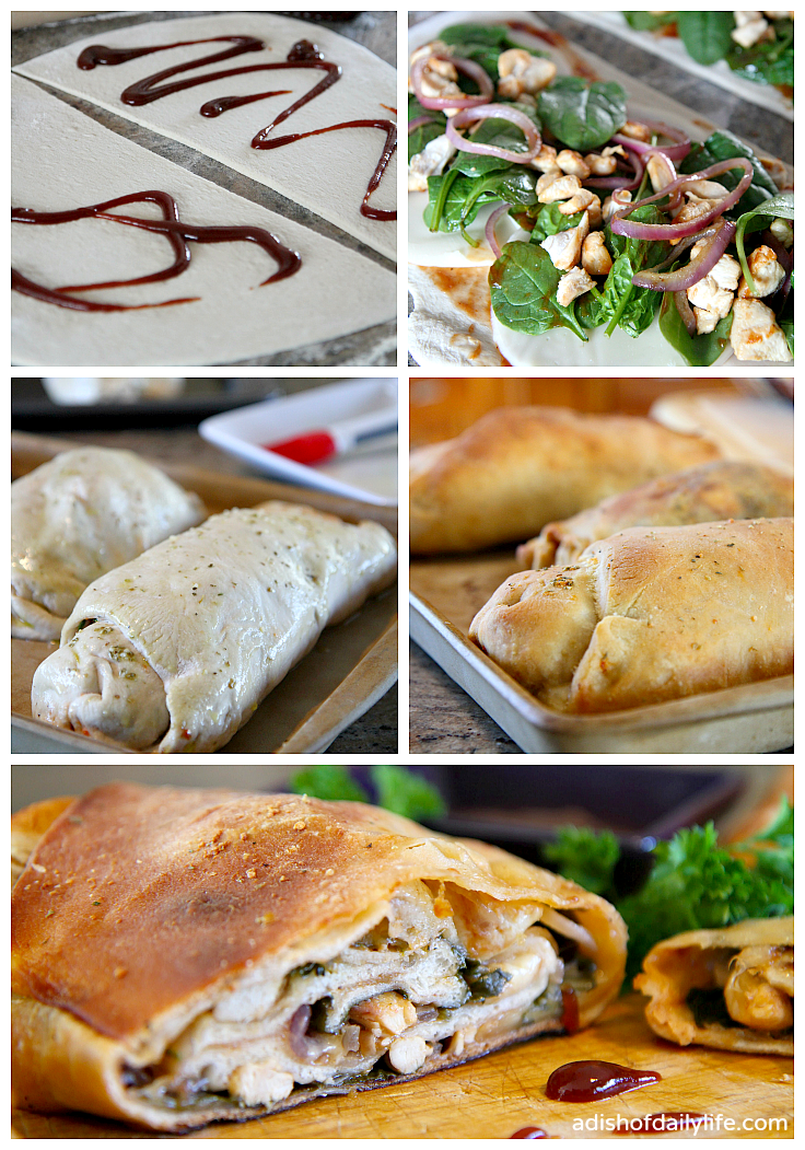 Steps to make Barbeque Chicken Stromboli for The Big Game #PartyWithBigY #Ad
