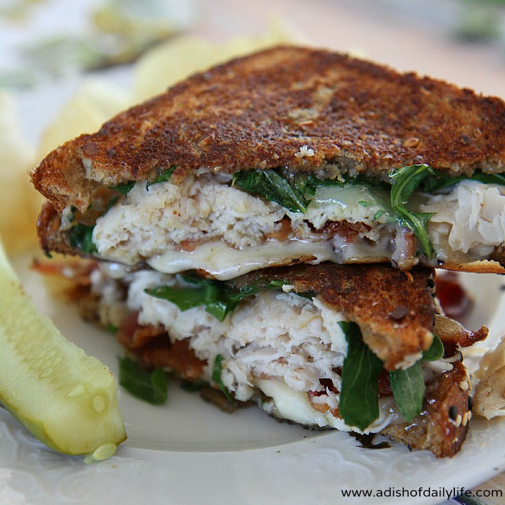 Turkey Club Havarti Grilled Cheese for National Grilled Cheese Month