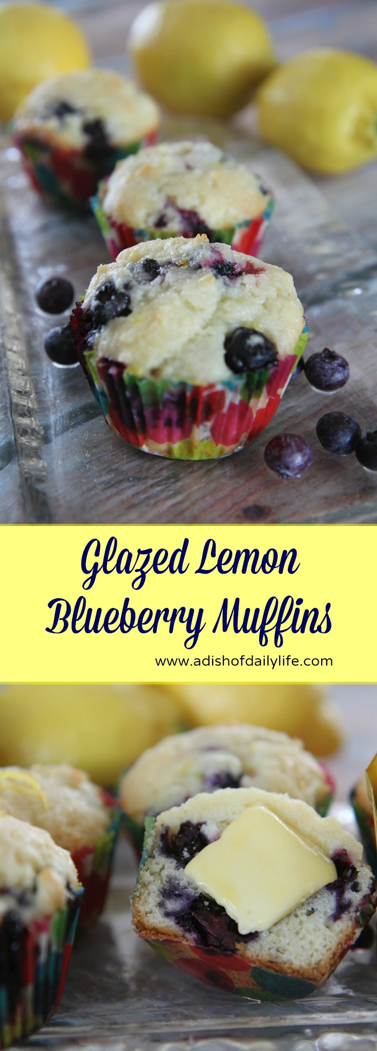 These glazed lemon blueberry muffins, made with a premium imported butter, are melt in your mouth good...perfect for breakfast or a pick-me-up snack any time of day #ButterMeUp