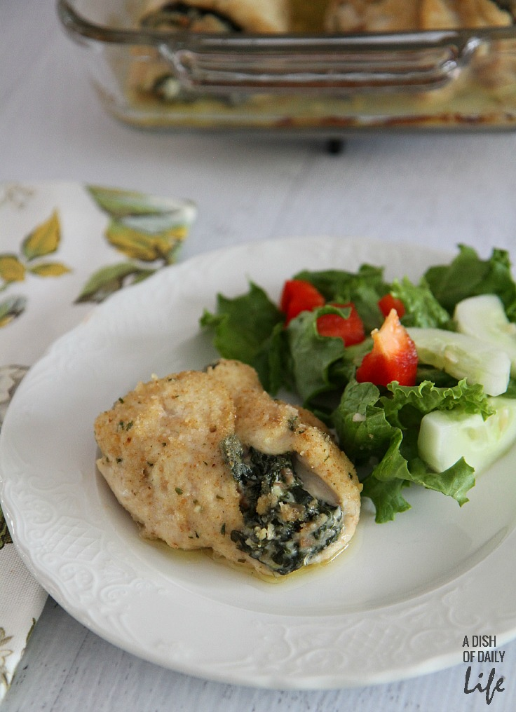 Goat cheese stuffed chicken breast with spinach and proscuitto...an elegant but easy meal!