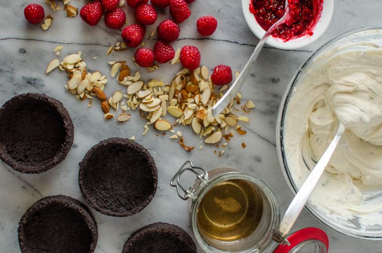 Lavender and Raspberry No Bake Cheesecake
