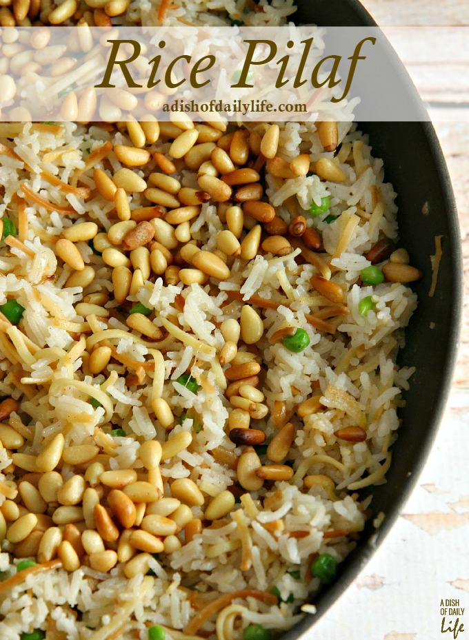 This delicious Rice Pilaf recipe was inspired by my husband's Lebanese roots. It's an elegant, easy-to-make side dish, the perfect addition to your Thanksgiving or Christmas menu. 30 mins