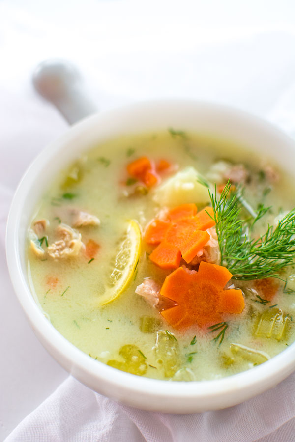 Easy Greek Chicken Lemon Soup + 14 more easy soup recipes for National Homemade Soup Day!